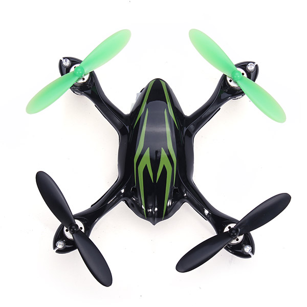 Hubsan H107C-HD Above Black and Green